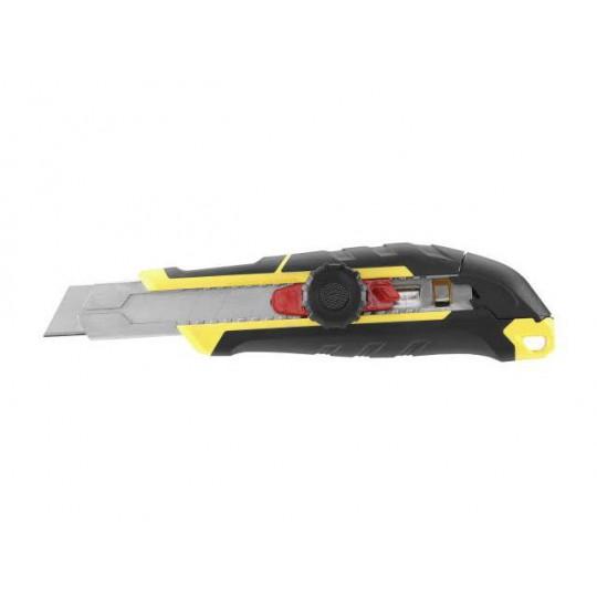 Nóż 18mm ostrze łamane z pokrętłem i blokadą
