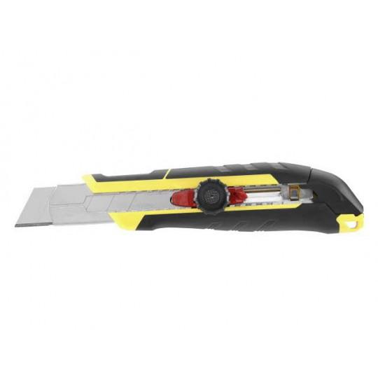 Nóż 25mm ostrze łamane z pokrętłem i blokadą